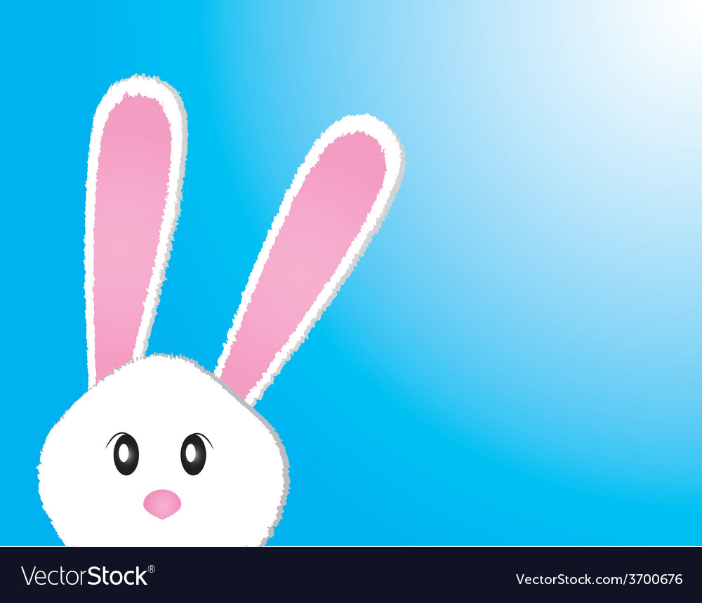 Cute bunny card easter day vector | Price: 1 Credit (USD $1)