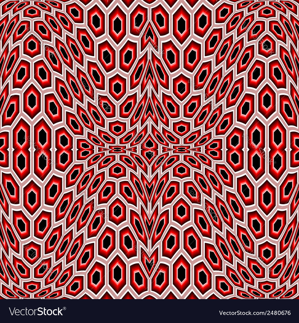 Design seamless distorted hexagon pattern vector | Price: 1 Credit (USD $1)