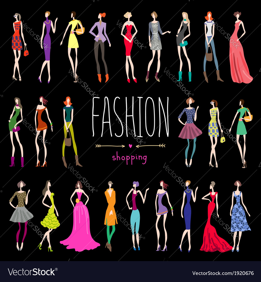 Fashion shopping vector | Price: 1 Credit (USD $1)