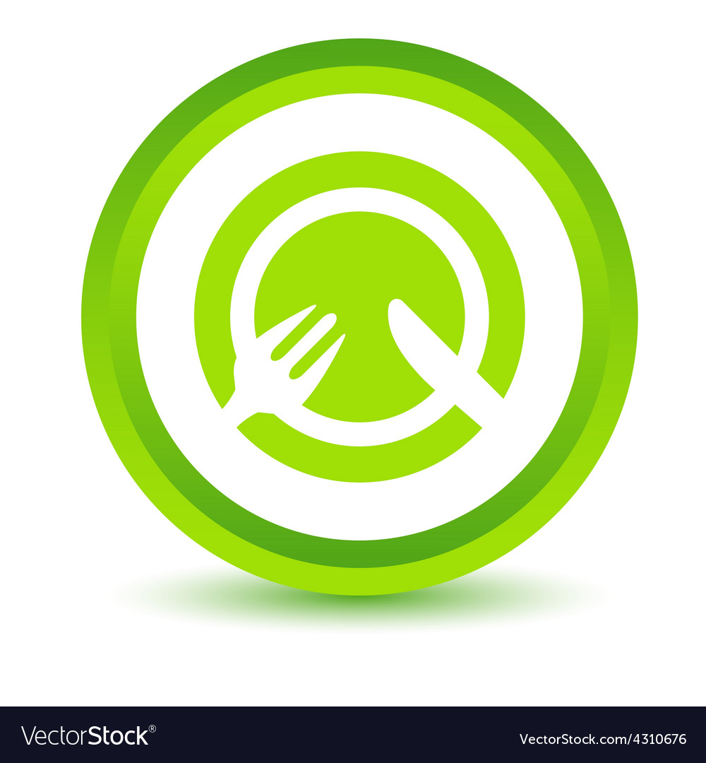 Green lunch icon vector | Price: 1 Credit (USD $1)