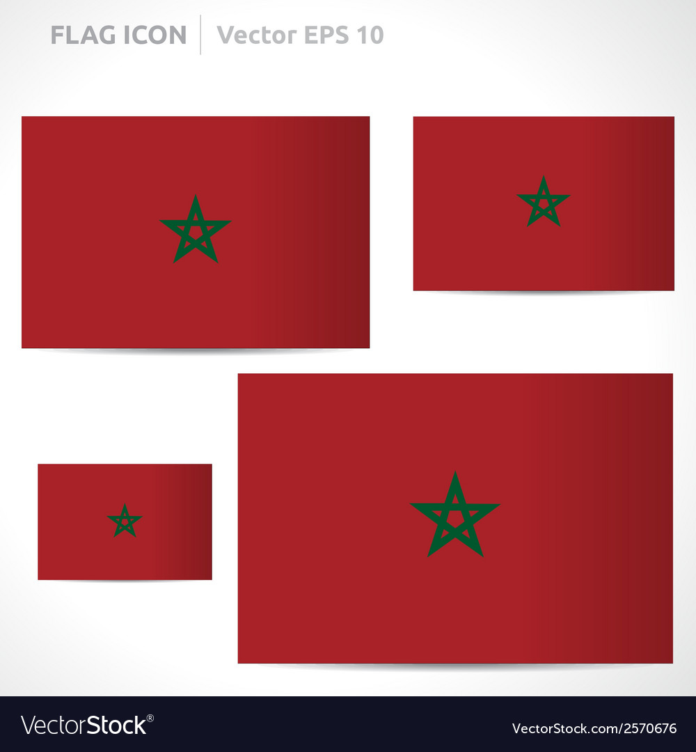 Morocco flag template vector | Price: 1 Credit (USD $1)