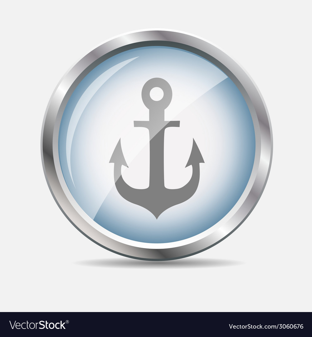 Sea glossy icon vector | Price: 1 Credit (USD $1)