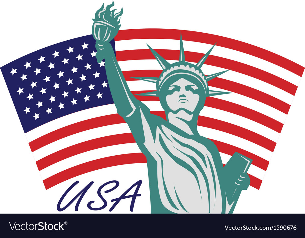 Statue liberty usa vector | Price: 1 Credit (USD $1)