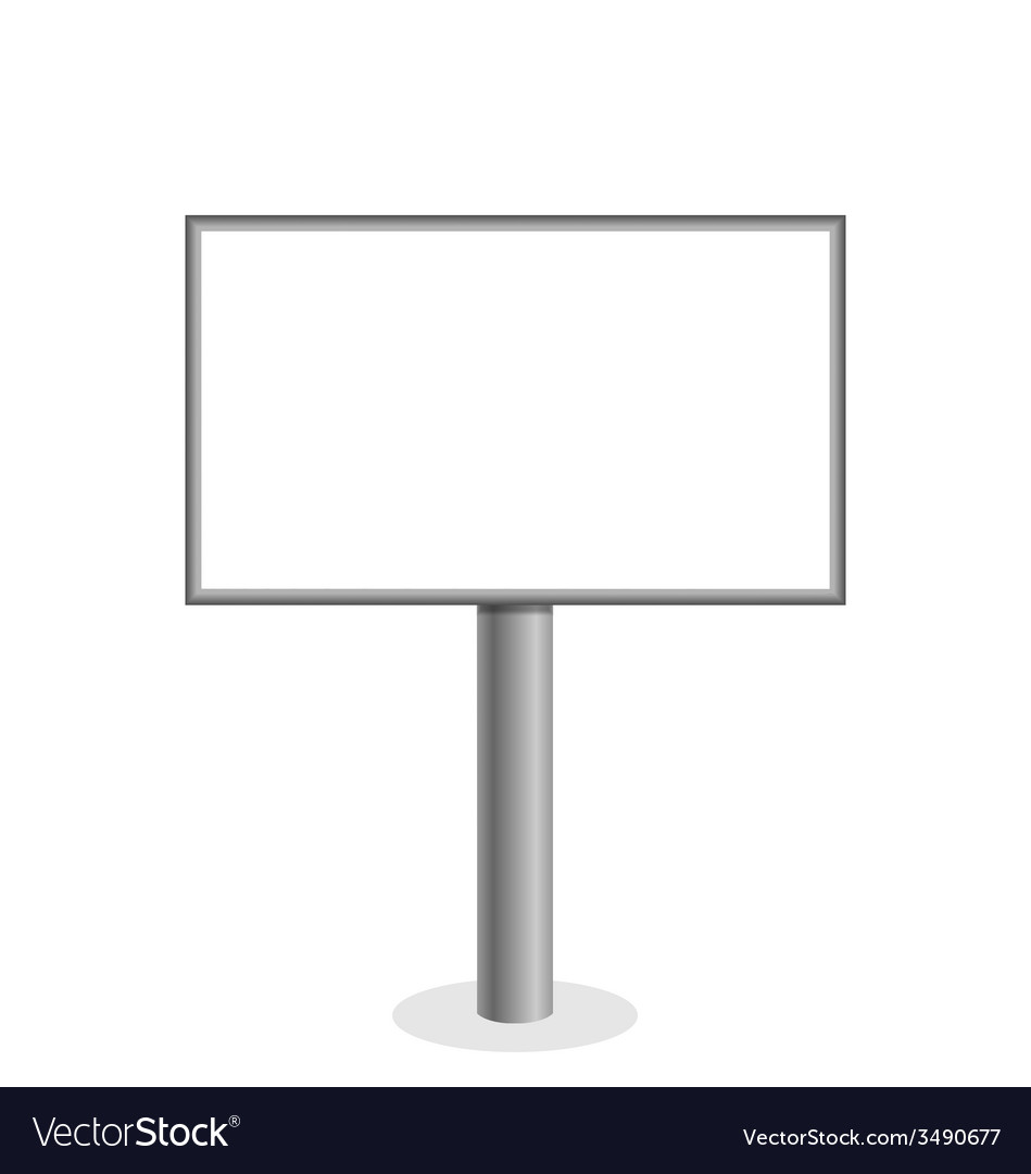 Billboard on white vector | Price: 1 Credit (USD $1)