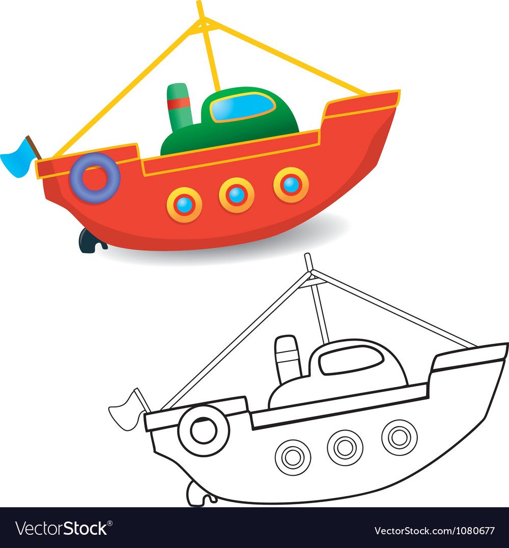 Boat toy vector | Price: 1 Credit (USD $1)