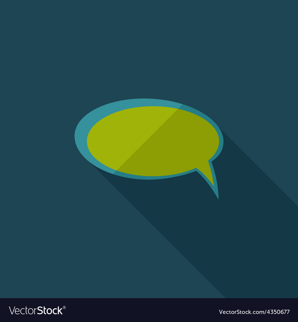 Flat comic speech bubbl vector | Price: 1 Credit (USD $1)