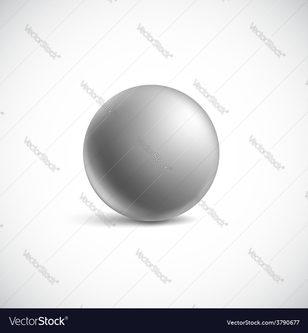Gray glossy sphere isolated on white vector | Price: 1 Credit (USD $1)