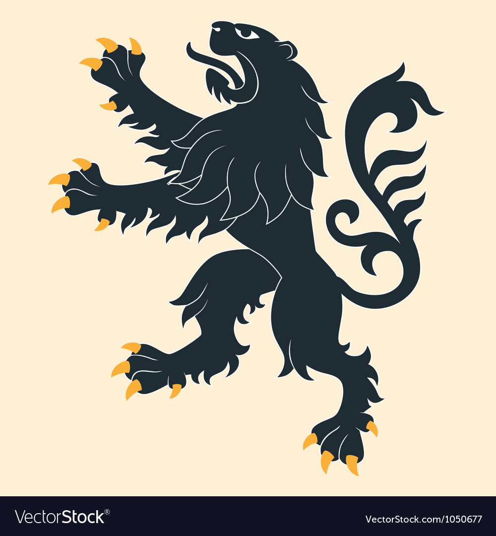Heraldic lion 26 vector | Price: 1 Credit (USD $1)