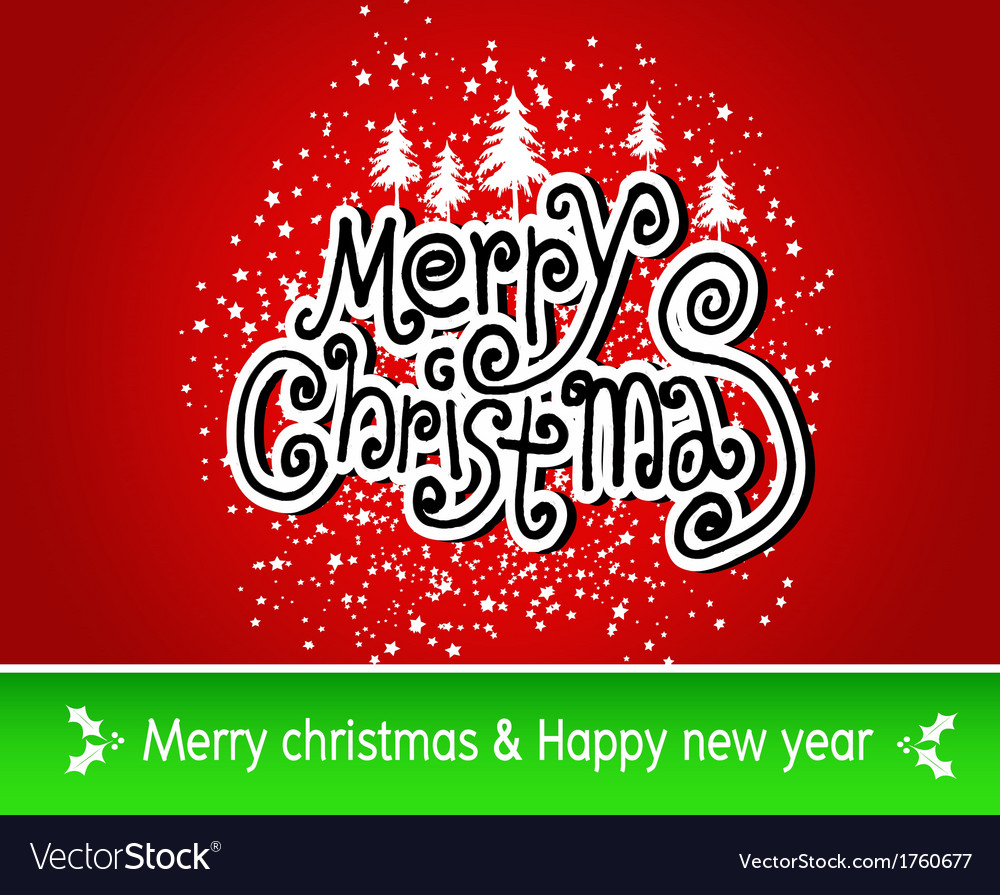 Merry christmas and happy new year background vect vector   Price: 1 Credit (USD $1)