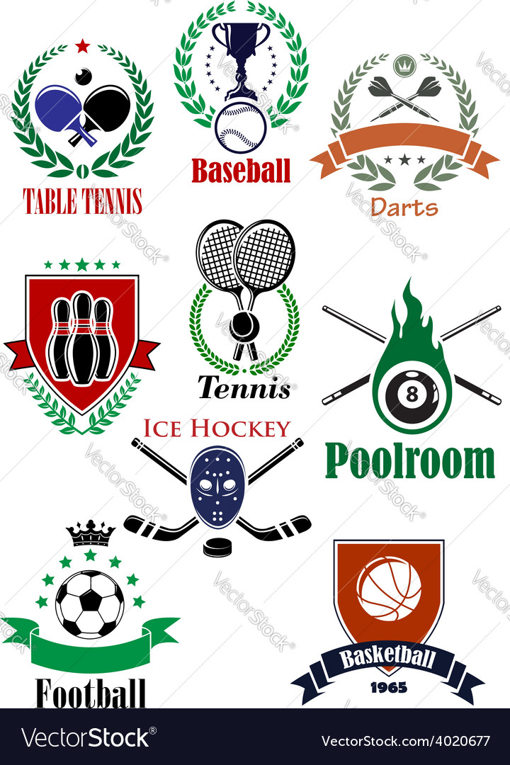 Team sports heraldic badges or logo vector | Price: 1 Credit (USD $1)