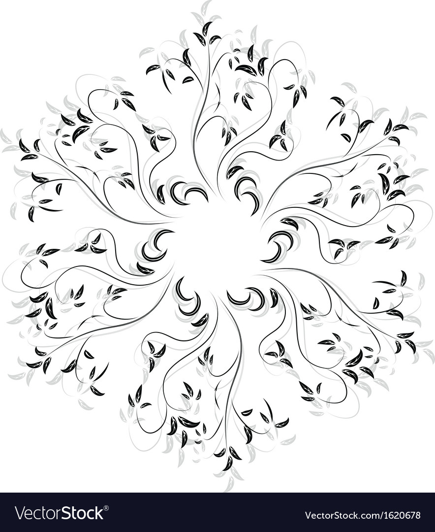 Abstract design ornament element with flowers vector | Price: 1 Credit (USD $1)