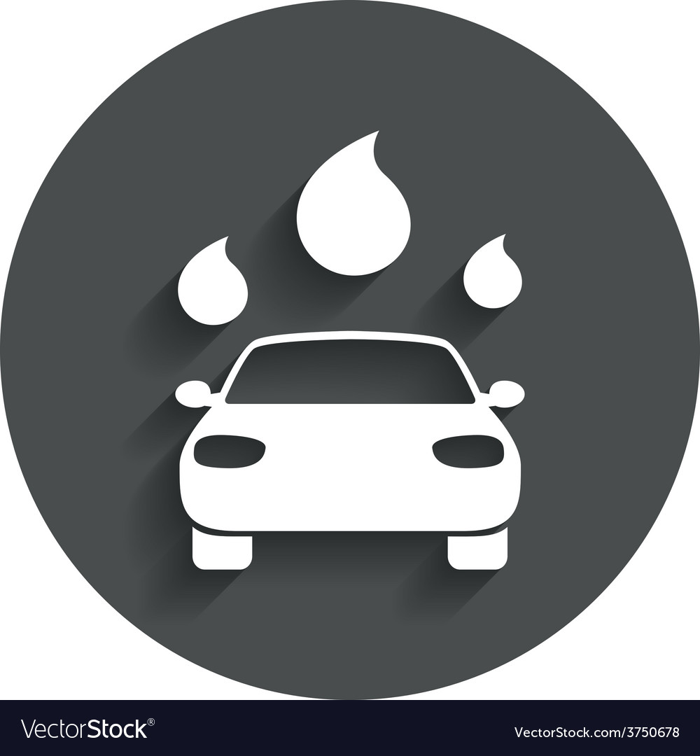 Car wash sign icon automated teller water drop vector | Price: 1 Credit (USD $1)