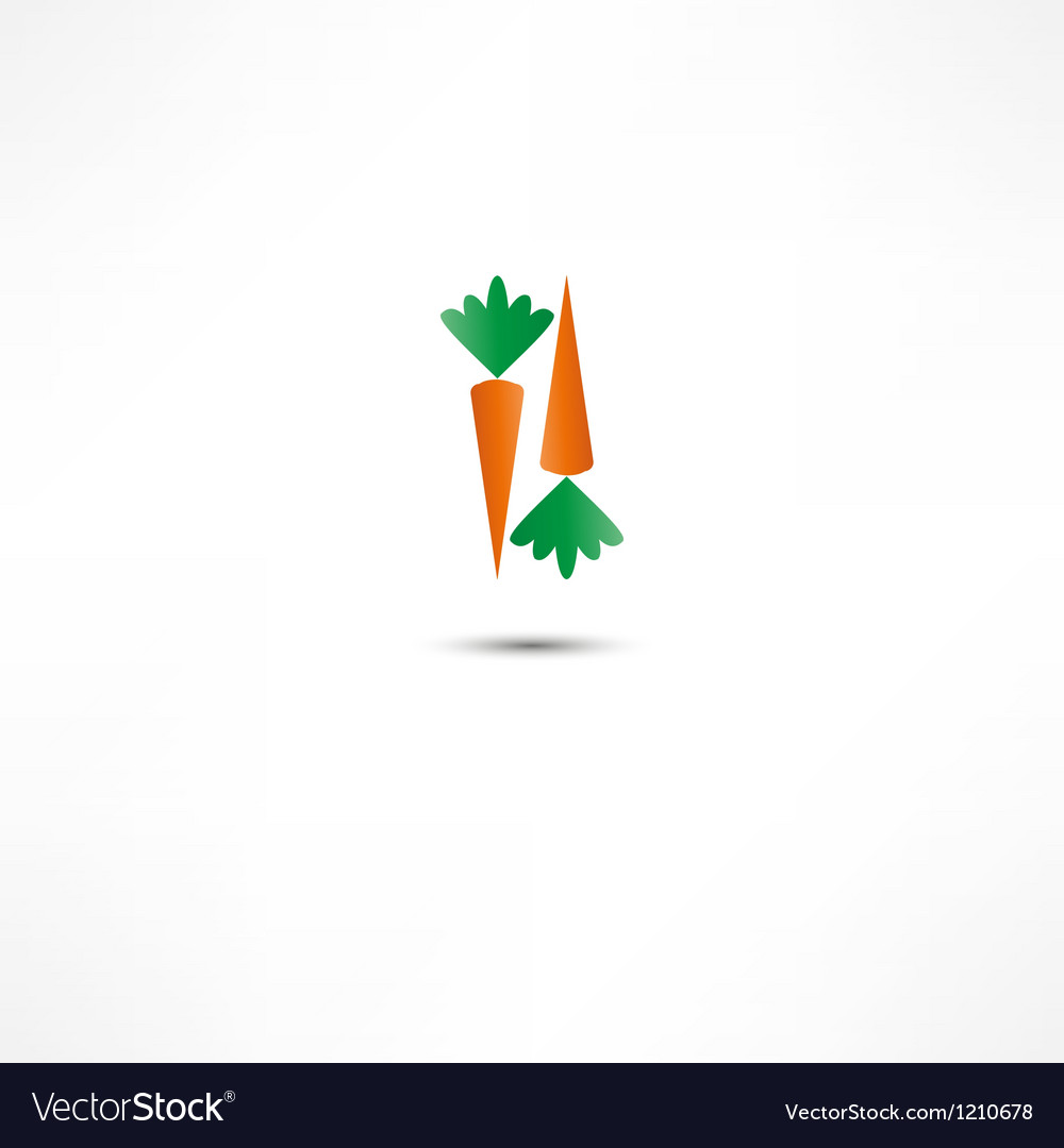 Carrot icon vector | Price: 1 Credit (USD $1)