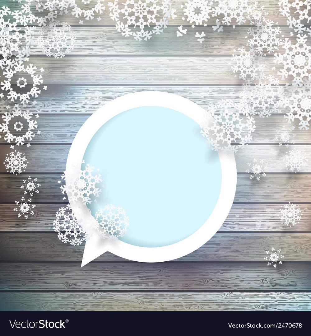 Christmas snowflakes on wood plus eps10 vector | Price: 1 Credit (USD $1)