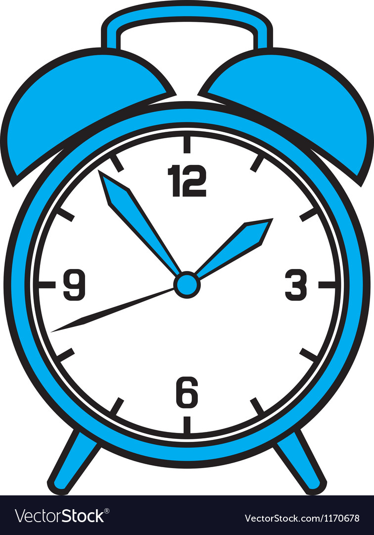 Classic alarm clock vector | Price: 1 Credit (USD $1)