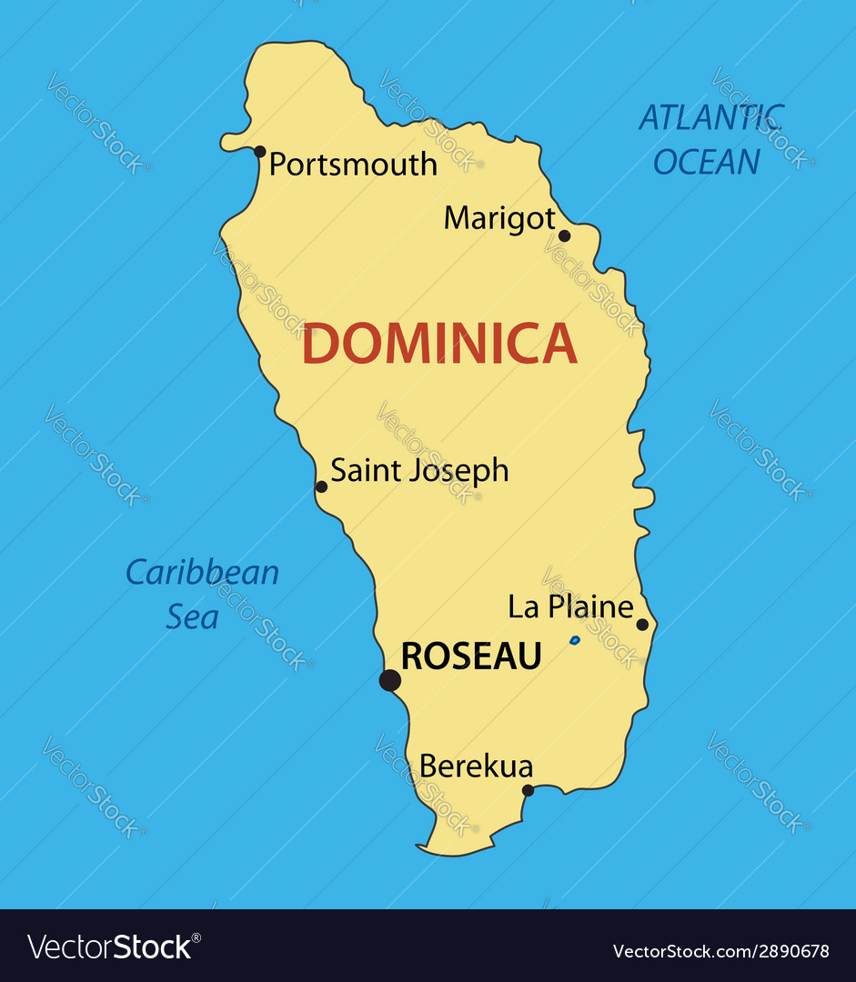 Commonwealth of dominica - map vector | Price: 1 Credit (USD $1)