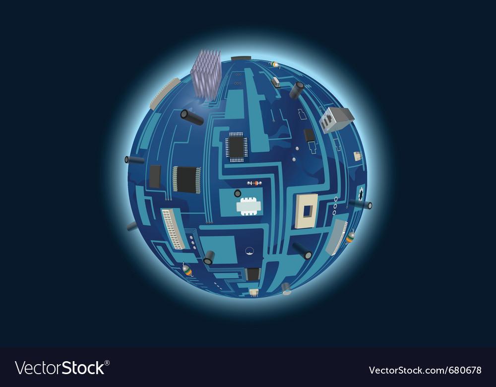 Digital world vector | Price: 3 Credit (USD $3)