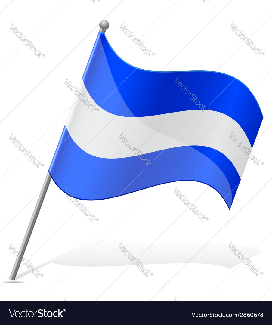 Flag of salvador vector | Price: 1 Credit (USD $1)