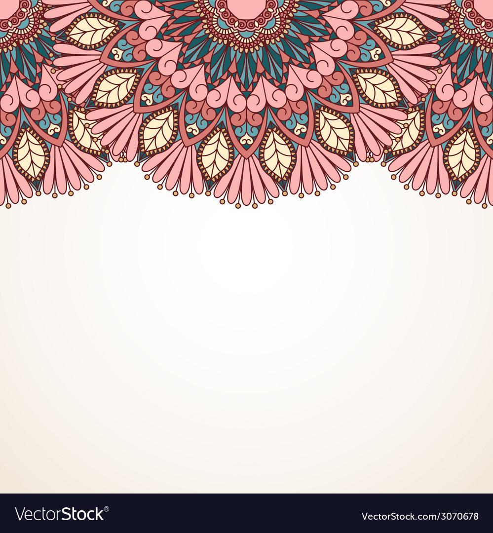 Floral oriental pattern vector | Price: 1 Credit (USD $1)