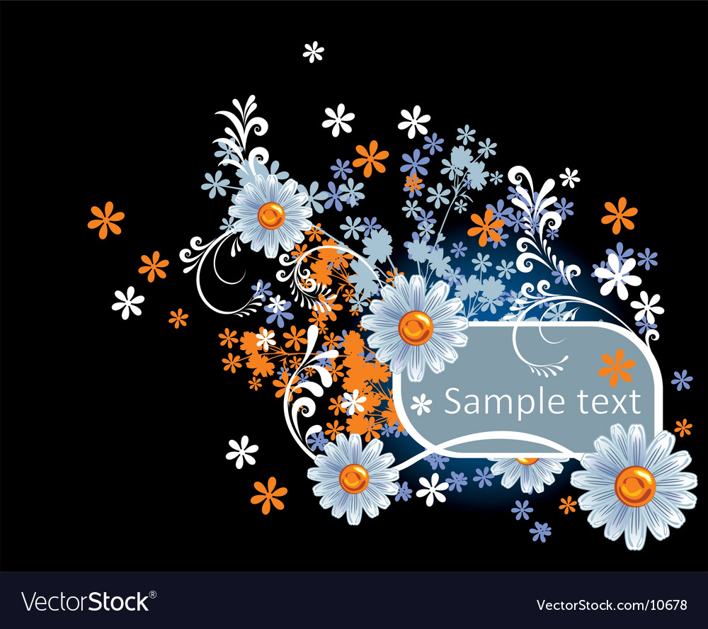 Flowers frame vector   Price: 1 Credit (USD $1)