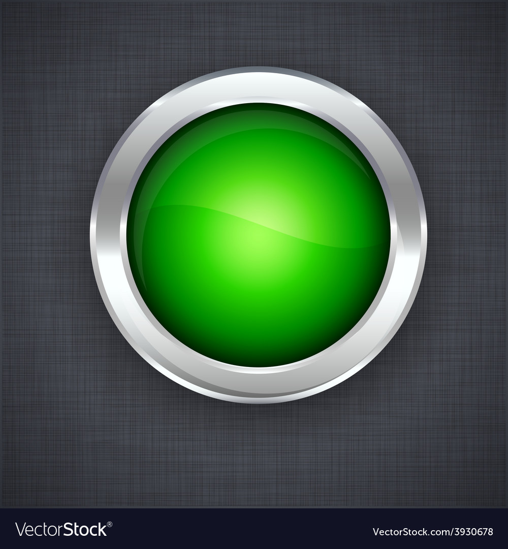 Glossy 3d green button vector | Price: 1 Credit (USD $1)
