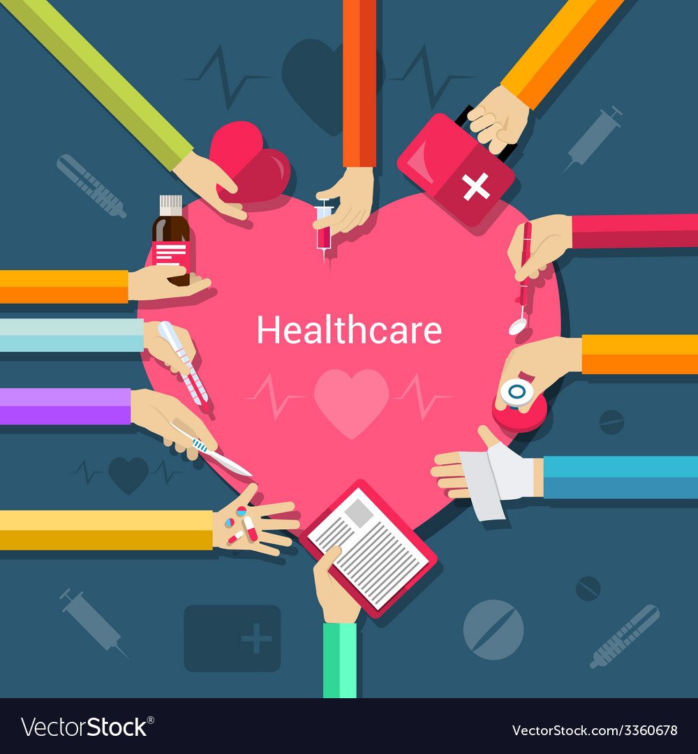 Healthcare flat concept vector | Price: 1 Credit (USD $1)