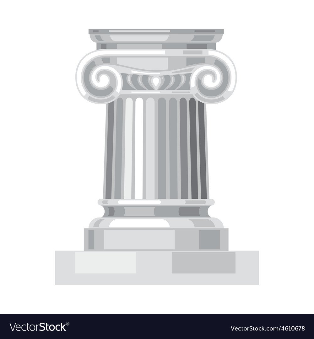 Ionic realistic antique greek marble column vector | Price: 1 Credit (USD $1)