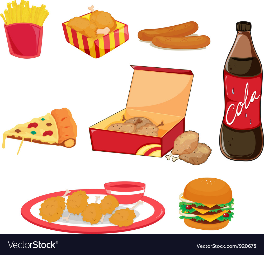 Junk food vector | Price: 3 Credit (USD $3)