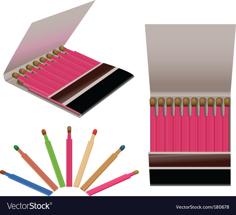 Matches vector | Price: 1 Credit (USD $1)