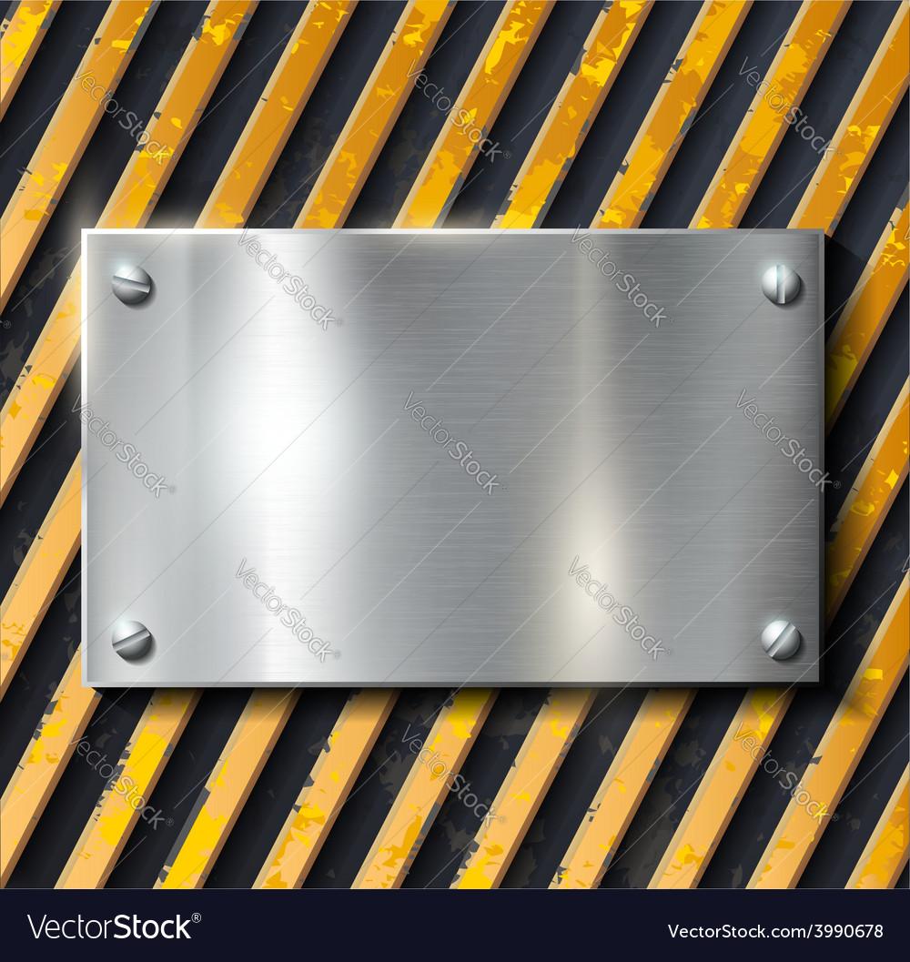 Metal warning background vector   Price: 1 Credit (USD $1)