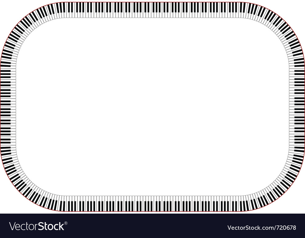 Piano keys frame vector   Price: 1 Credit (USD $1)
