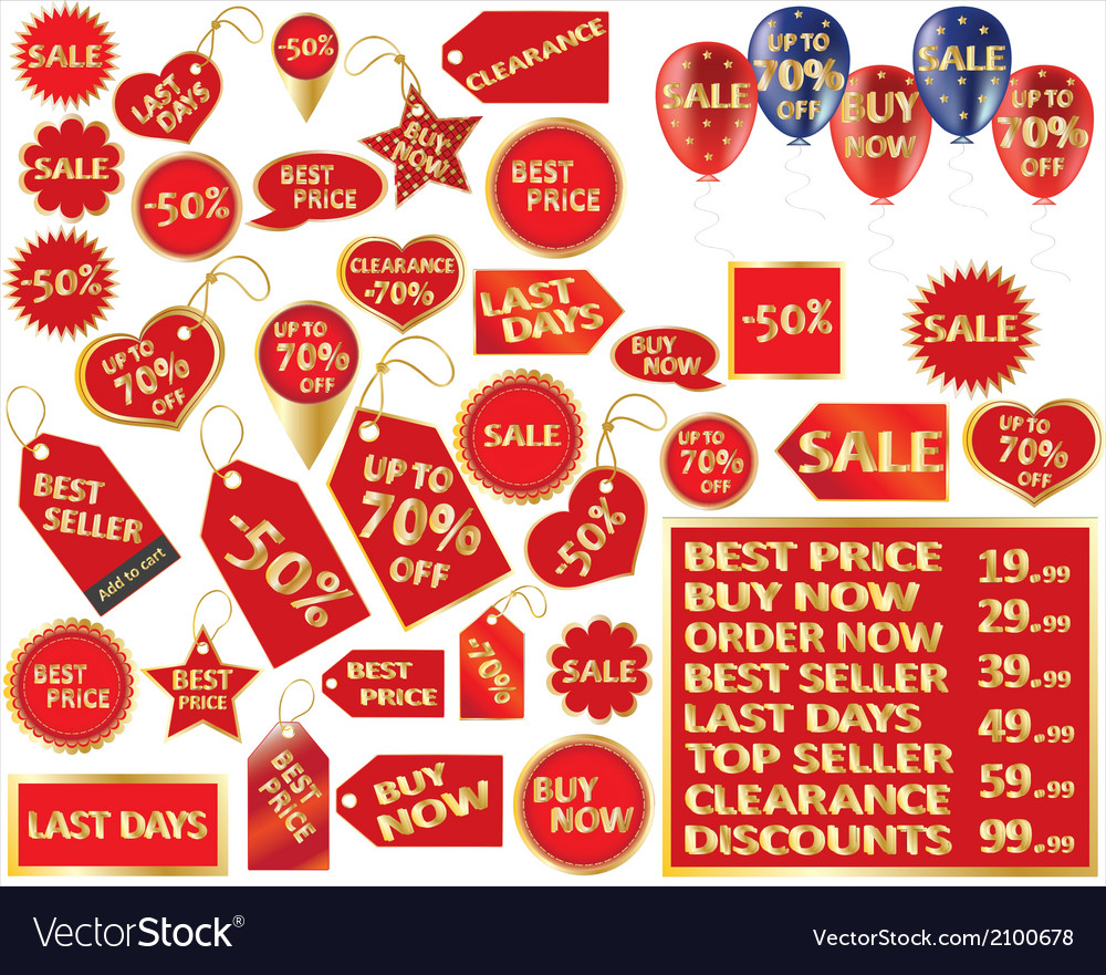 Set of retail tags vector | Price: 1 Credit (USD $1)