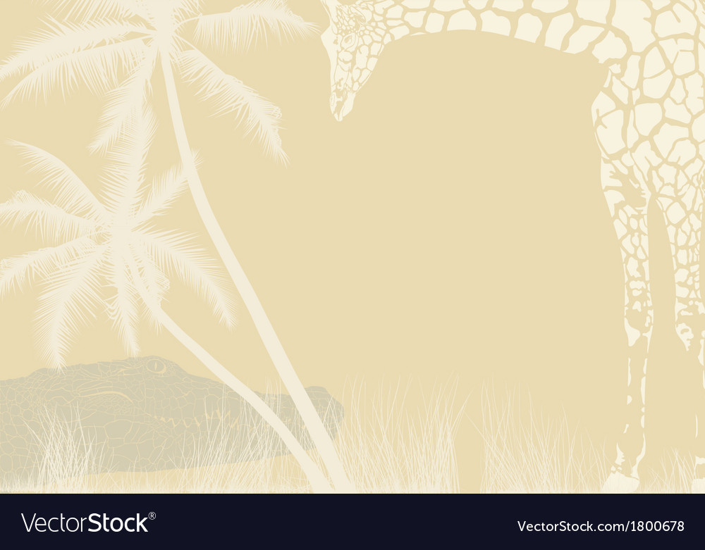 Tropical animal background vector