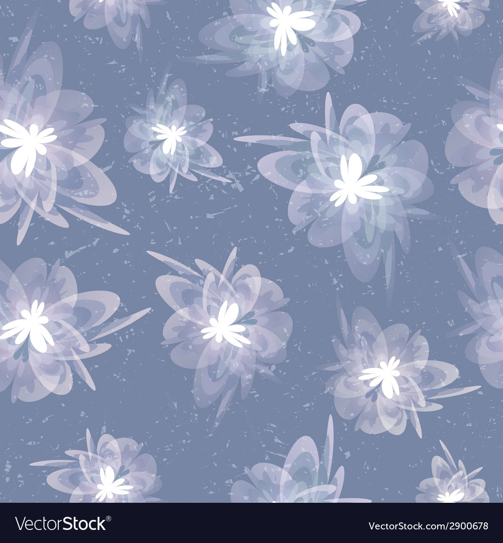 Vintage floral grey seamless background vector | Price: 1 Credit (USD $1)