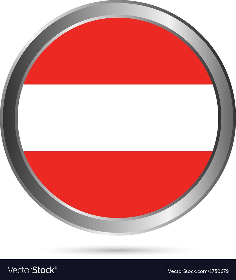 Austria flag button vector | Price: 1 Credit (USD $1)