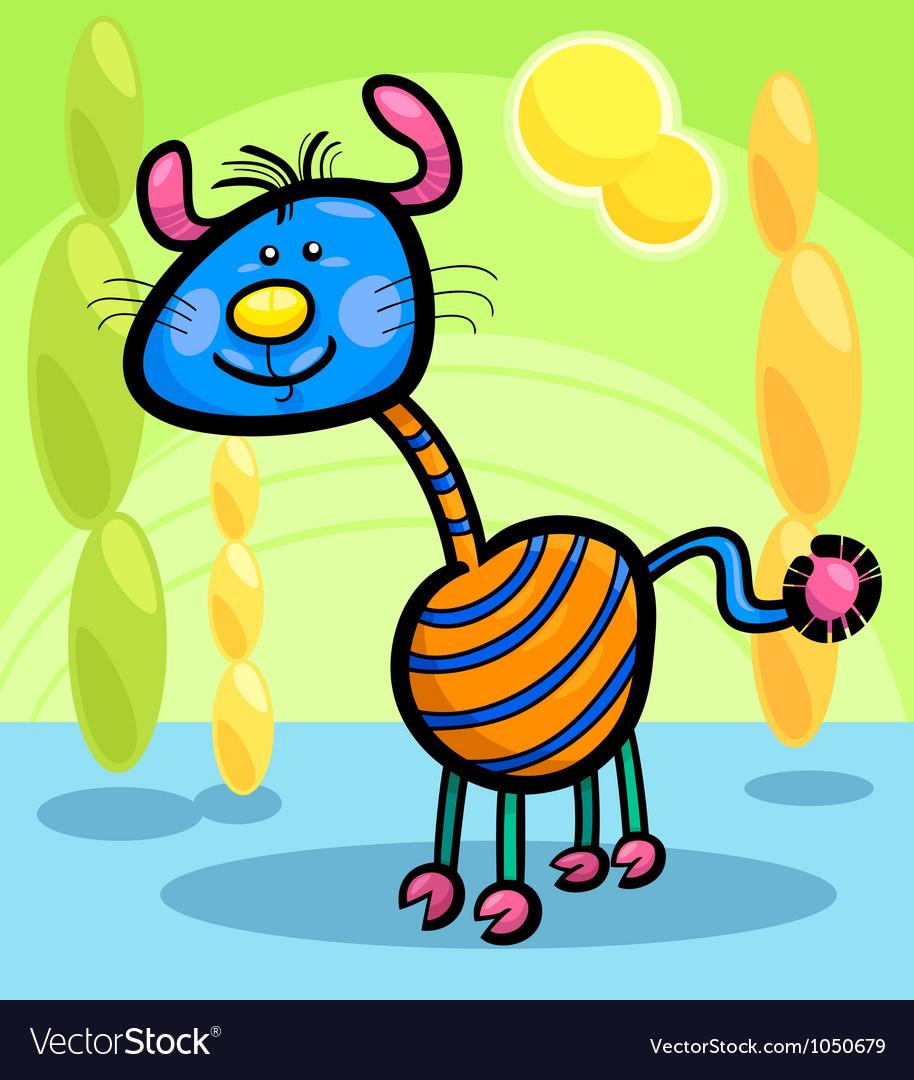 Cartoon funny fantasy creature vector | Price: 1 Credit (USD $1)