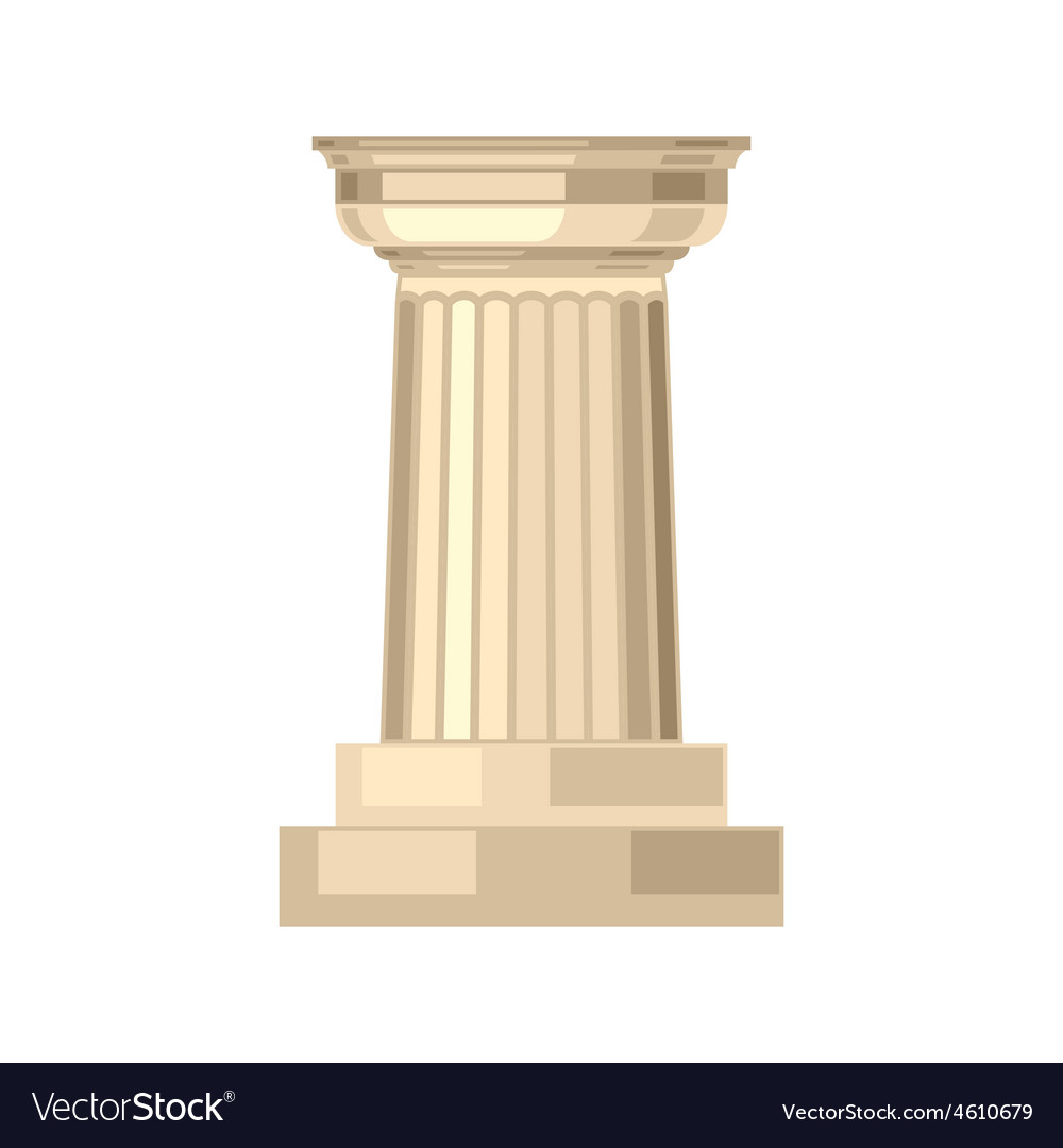 Doric realistic antique greek marble column vector | Price: 1 Credit (USD $1)