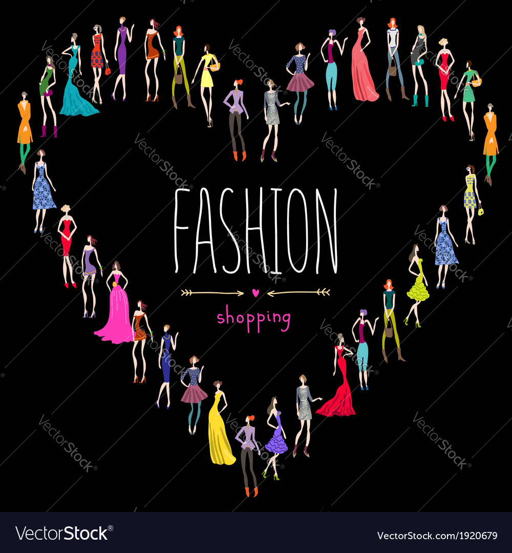 Fashion shopping love vector | Price: 1 Credit (USD $1)