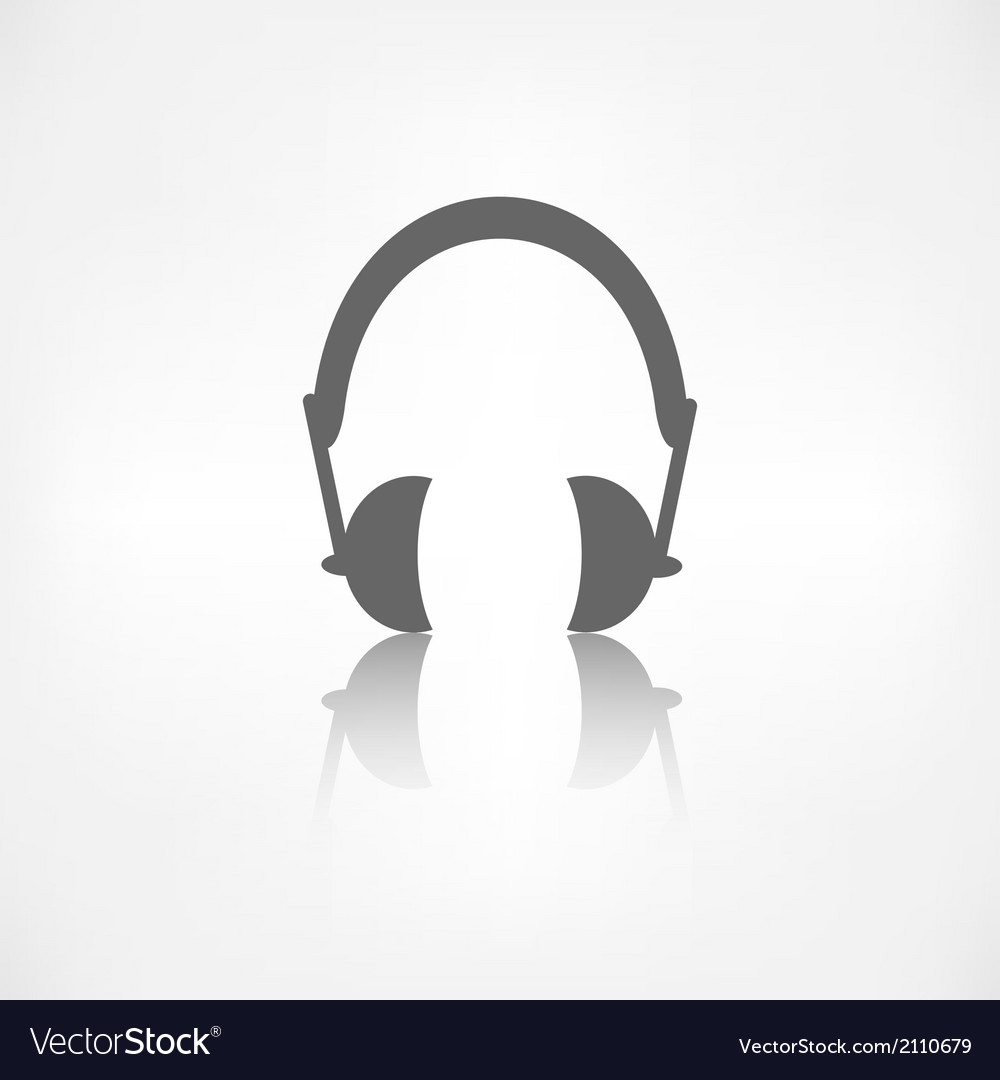 Headphones icon musical accessory vector | Price: 1 Credit (USD $1)