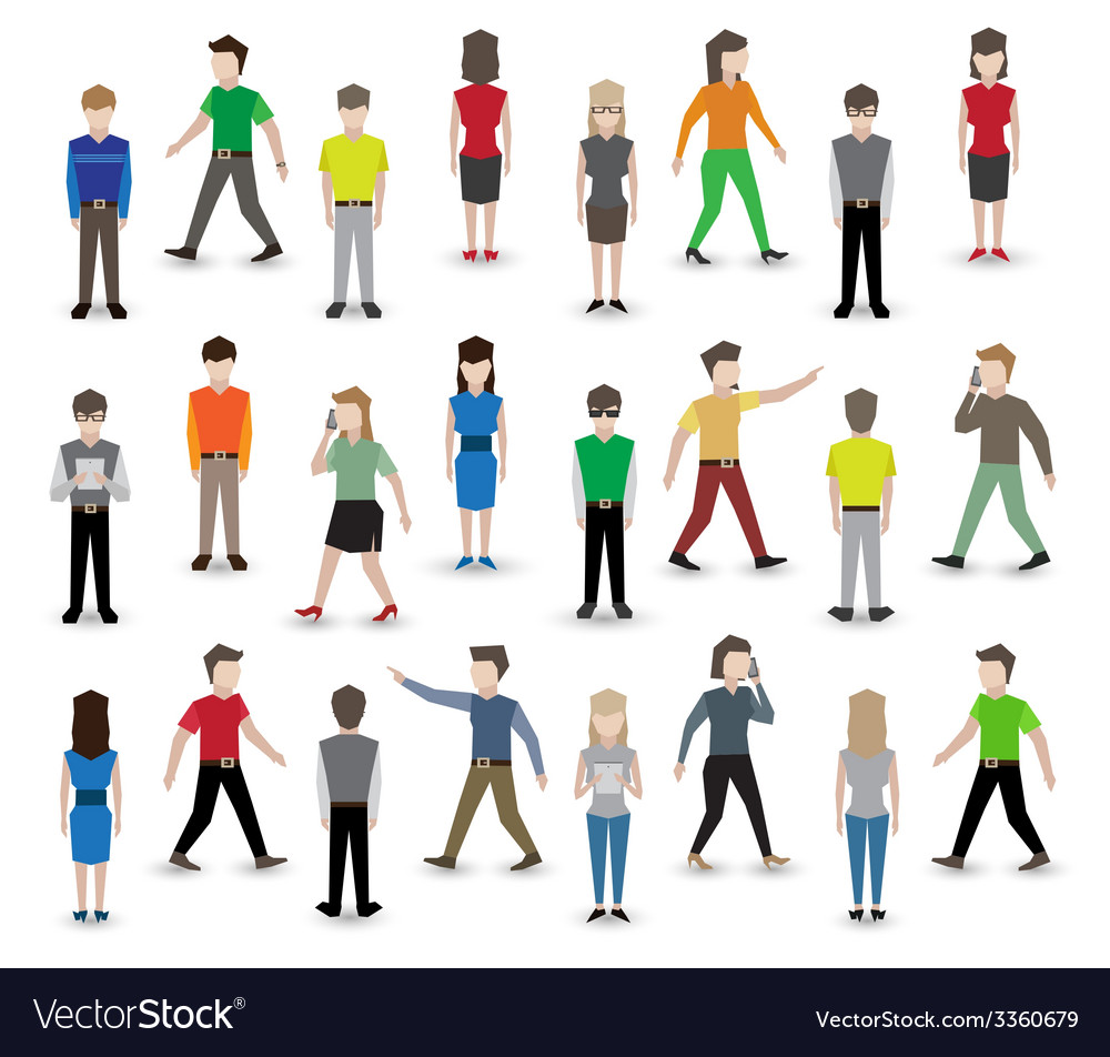 People pixel avatars vector