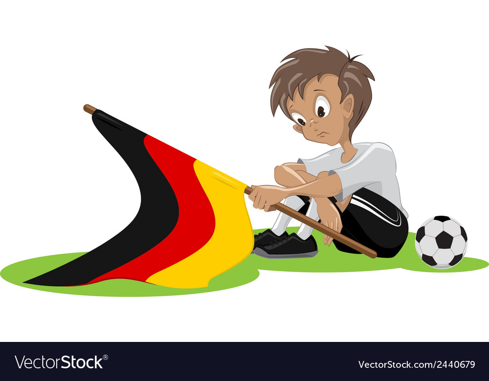 Sad germany soccer fan vector | Price: 1 Credit (USD $1)