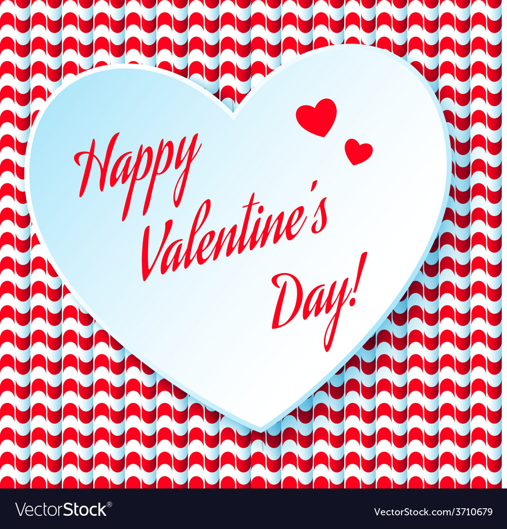Valentines day abstract background with cut paper vector | Price: 1 Credit (USD $1)