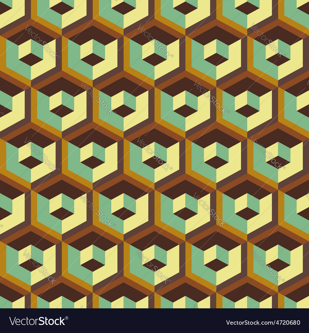 3d seamless abstract with hexagonal elements vector | Price: 1 Credit (USD $1)