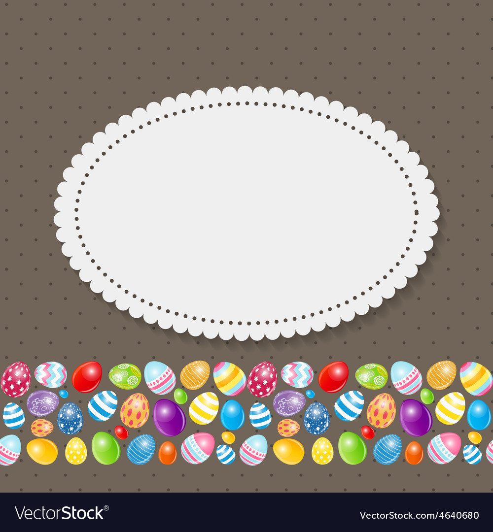 Beautiful easter egg background vector | Price: 1 Credit (USD $1)