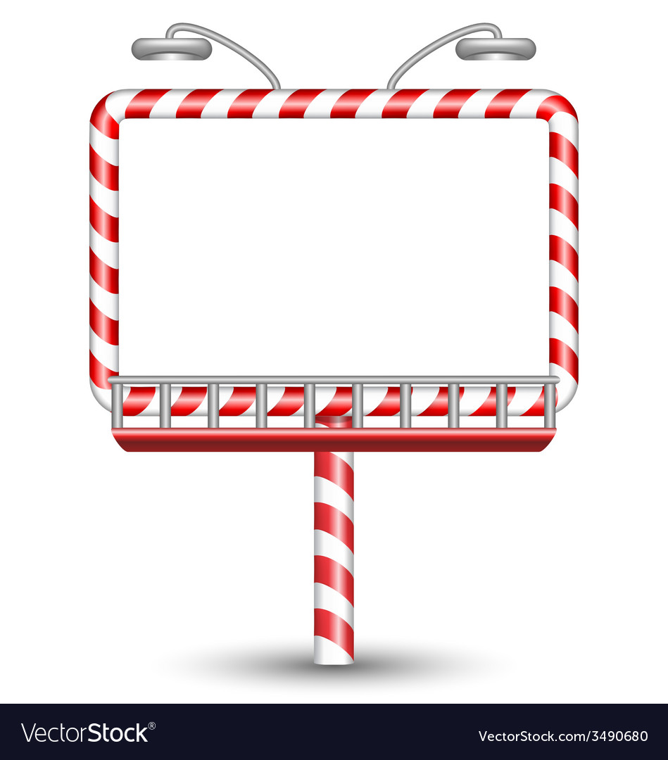 Candy cane billboard on white vector | Price: 1 Credit (USD $1)
