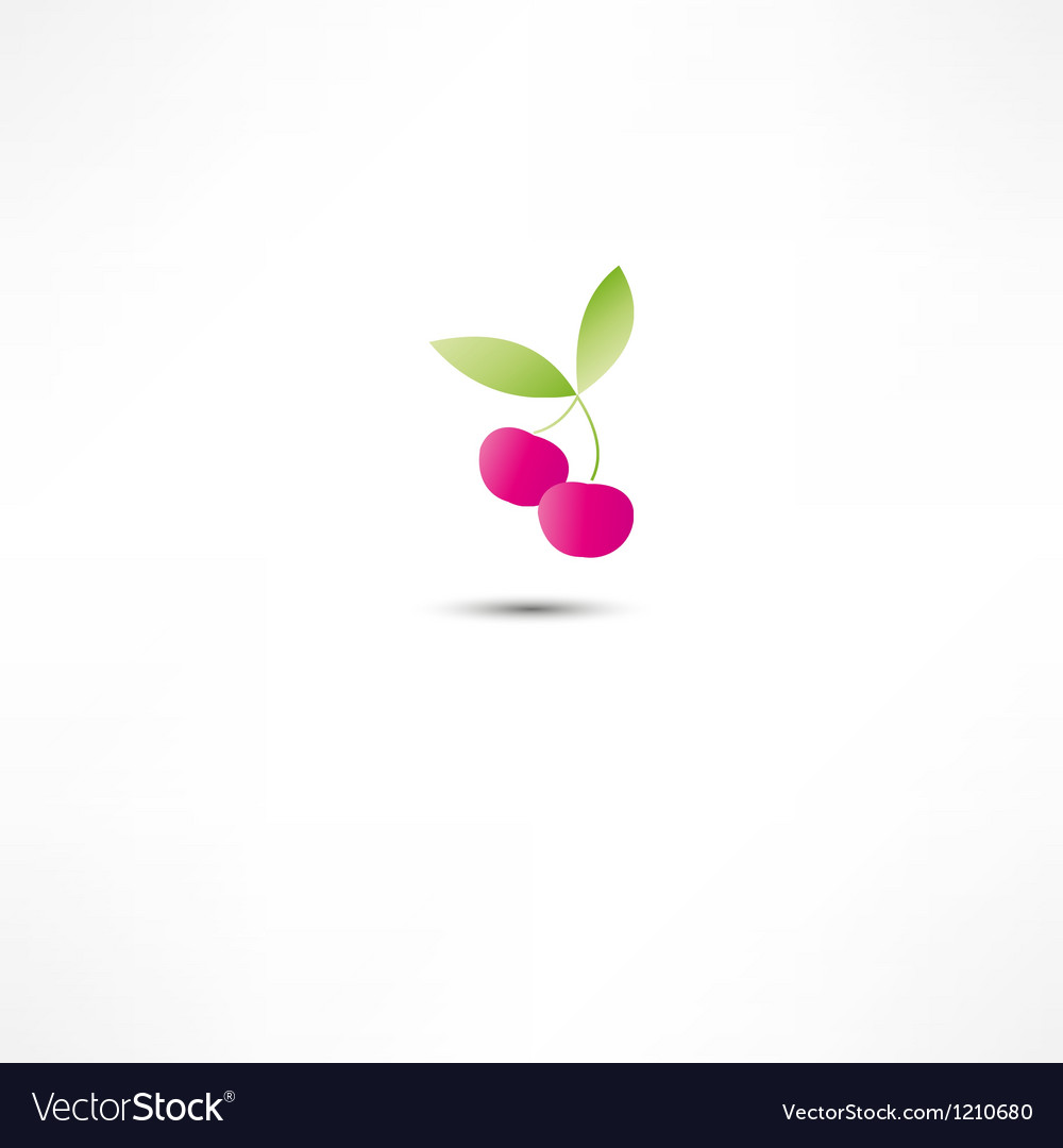 Cherry icon vector | Price: 1 Credit (USD $1)