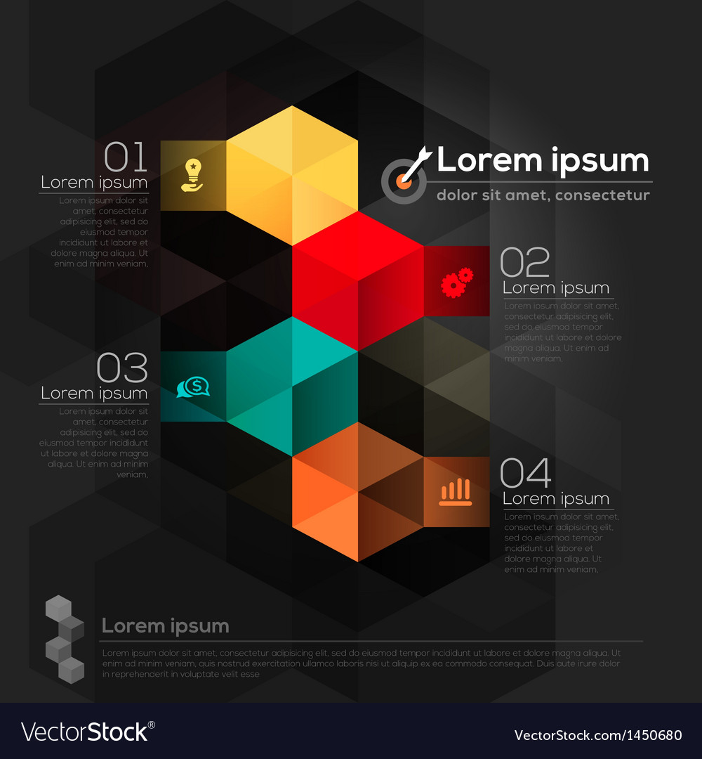 Geometric shape abstract design layout vector | Price: 1 Credit (USD $1)