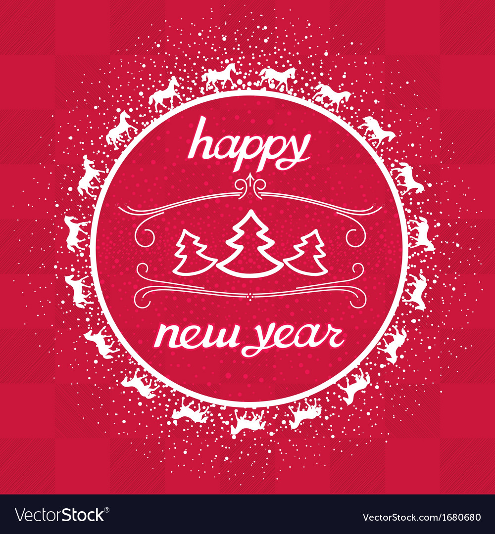 Happy new year card greeting vector | Price: 1 Credit (USD $1)