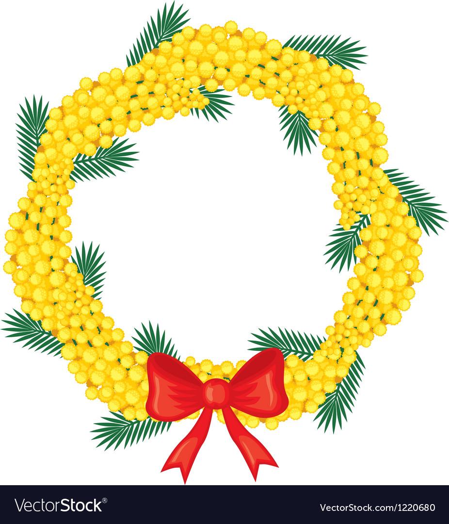 Mimosa garland vector | Price: 1 Credit (USD $1)