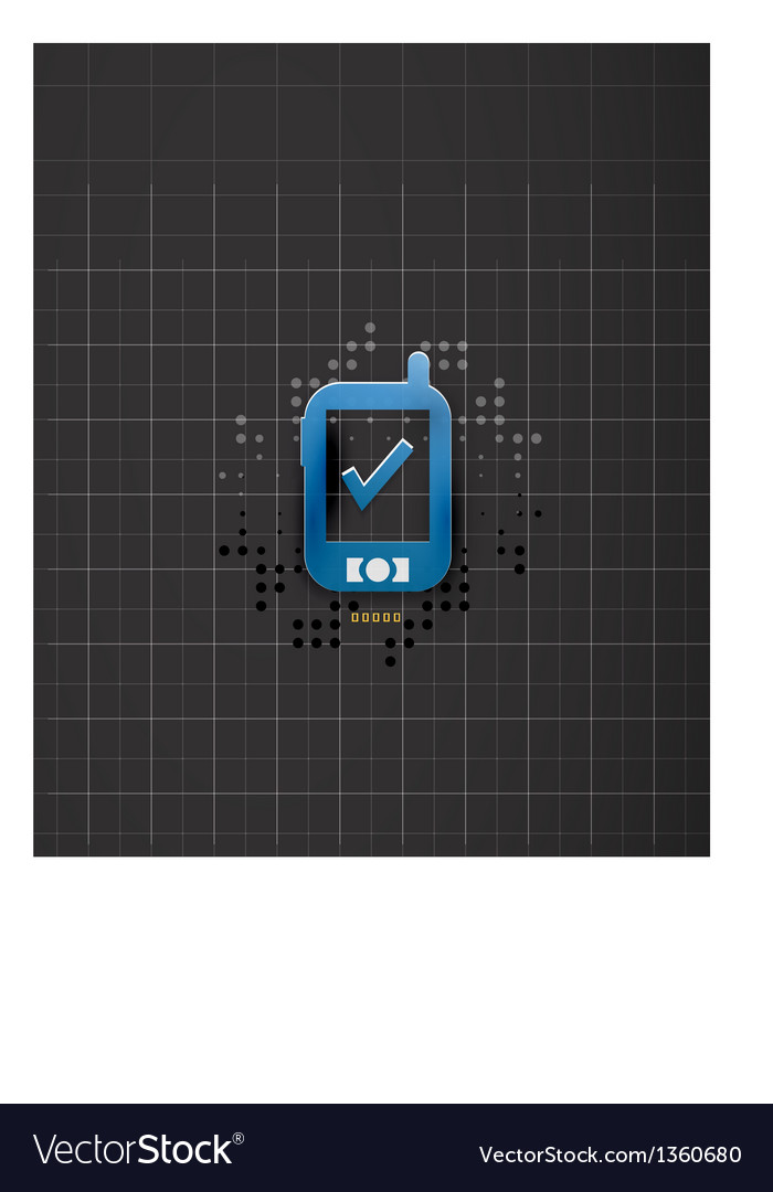Mobile phone black technology design vector | Price: 1 Credit (USD $1)